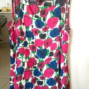 Zara colorful silk satin dress